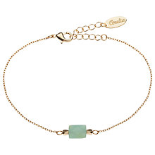 Buy Orelia Semi-Precious Bead Chain Bracelet, Gold/Green Online at johnlewis.com