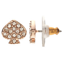 Buy kate spade new york Glass Crystal Signature Spade Stud Earrings, Rose Gold Online at johnlewis.com