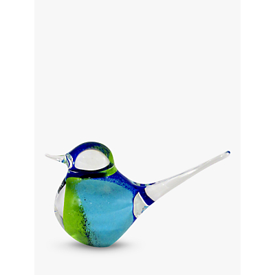 Image of Svaja Basil Bird Ornament, Blue/ Green