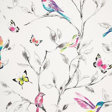 Buy john lewis hummingbird trees wallpaper multi john lewis for John lewis bathroom wallpaper