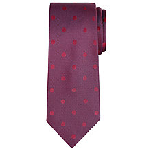 Buy CK Calvin Klein Tonal Dot Silk Tie, Burgundy Online at johnlewis.com