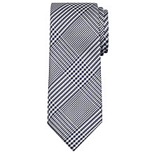 Buy Hackett London Prince of Wales Check Silk Tie, Navy Online at johnlewis.com
