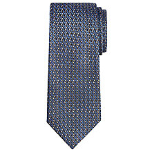 Buy Calvin Klein Semi Plain Woven Silk Tie, Navy Online at johnlewis.com