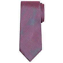 Buy Hackett London Houndstooth Silk Tie, Navy/Pink Online at johnlewis.com
