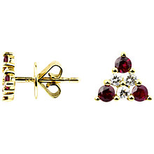 Buy Turner & Leveridge 1990s 18ct Gold Ruby and Diamond Trefoil Stud Earrings Online at johnlewis.com