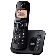 "Buy Panasonic KX-TGC220EB Digital Cordless Telephone with 1.6"" Backlit LCD Screen, Nuisance Call Blocker & Answering Machine, Single DECT Online at johnlewis.com"