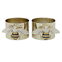 Buy Joanna Buchanan Bee Napkin Rings, Set of 2 Online at johnlewis.com