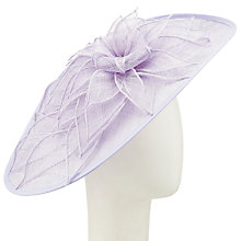 Buy Nigel Rayment Helen Disc and Flower Occasion Hat, Lavender Online at johnlewis.com