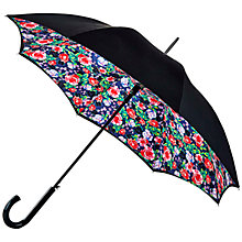 Buy Fulton Bloomsbury Rose Garden Umbrella, Black/Multi Online at johnlewis.com
