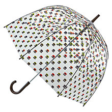 Buy Orla Kiely by Fulton Birdcage Floral Umbrella, Clear/Multi Online at johnlewis.com