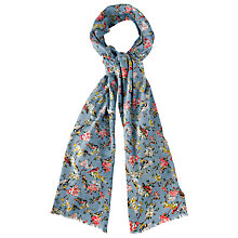 Buy Cath Kidston Blossom Birds Print Scarf, Blue/Multi Online at johnlewis.com