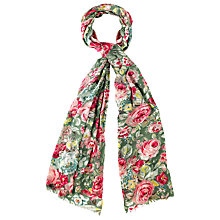 Buy Cath Kidston Greenwich Rose Print Scarf, Multi Online at johnlewis.com
