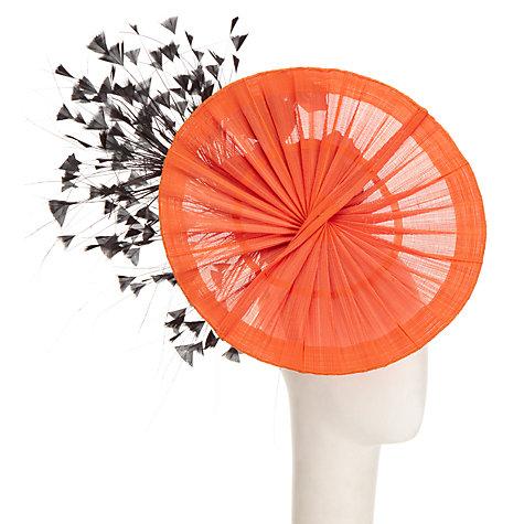Buy Rebecca Couture Elsa Fanned Disc Fascinator, Orange/Black Online at johnlewis.com