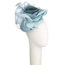 Buy Nigel Rayment Holly Large Flower Fascinator, Sea Blue Online at johnlewis.com