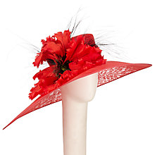Buy Nigel Rayment Macy East West Poppy Flower Occasion Hat, Red Online at johnlewis.com