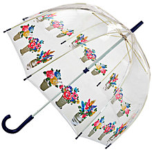 Buy Cath Kidston by Fulton Flower Pots Birdcage Umbrella, Clear/Multi Online at johnlewis.com