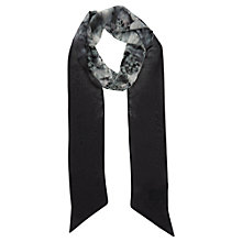 Buy Mint Velvet Macy Print Scarf, Black Online at johnlewis.com