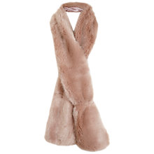 Buy Miss Selfridge Faux Fur Stole, Powder Blush Online at johnlewis.com