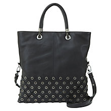 Buy Mint Velvet Maya Eyelet Leather Tote Bag, Black Online at johnlewis.com
