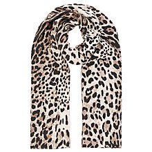 Buy Precis Petite Animal Print Silk Scarf, Brown/Multi Online at johnlewis.com