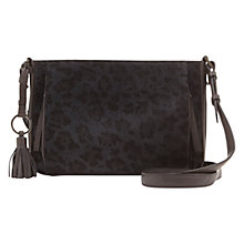 Buy Mint Velvet Emi Across Body Bag, Charcoal Online at johnlewis.com