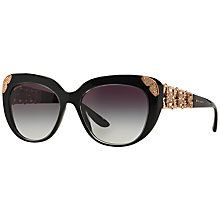 Buy Bvlgari BV8162B Cat's Eye Sunglasses, Black Online at johnlewis.com