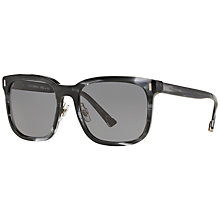 Buy Dolce & Gabbana DG4271 Polarised Square Sunglasses, Grey Online at johnlewis.com