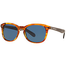 Buy Burberry BE4214 Square Sunglasses, Light Havana Online at johnlewis.com