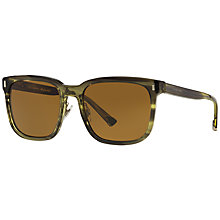 Buy Dolce & Gabbana DG4271 Square Sunglasses, Brown Online at johnlewis.com