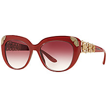 Buy Bvlgari BV8162B Polarised Cat's Eye Sunglasses, Red Online at johnlewis.com