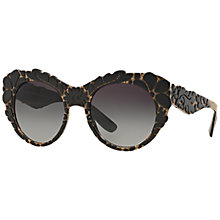 Buy Dolce & Gabbana DG4267 Round Embellished Sunglasses, Black Online at johnlewis.com