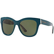 Buy Dolce & Gabbana DG4270 Mama's Brocade Polarised Square Sunglasses, Green Online at johnlewis.com