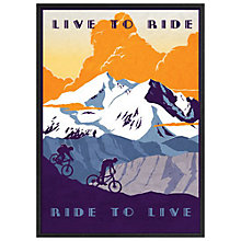 Buy Sassan Filsoof - Live To Ride Framed Print, 73 x 53cm Online at johnlewis.com