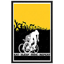Buy Sassan Filsoof - Eat Sleep Ride Repeat Framed Print, 73 x 53cm Online at johnlewis.com