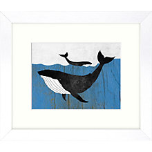 Buy Whale Framed Print, 27 x 23cm Online at johnlewis.com
