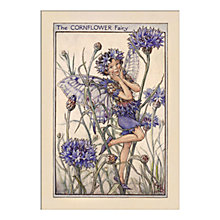 Buy Cicely Mary Barker - The Cornflower Fairy Unframed Print with Mount, 40 x 30cm Online at johnlewis.com