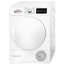 Buy Bosch Avantixx WTW83490GB Freestanding Condenser Tumble Dryer with Heat Pump, 8kg Load, A++ Energy Rating, White Online at johnlewis.com