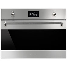 Buy Smeg SFP4390X Classic Compact Built-In Multifunction Oven, Stainless Steel Online at johnlewis.com