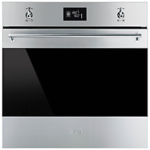 Buy Smeg SF6390XE Classic Built-In Electric Multifunction Single Oven, Stainless Steel Online at johnlewis.com