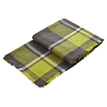 Buy Joules Check Heyford Soft Oversized Scarf, Olive Online at johnlewis.com