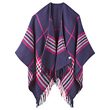 Buy Joules Innis Check Cape, Purple Online at johnlewis.com