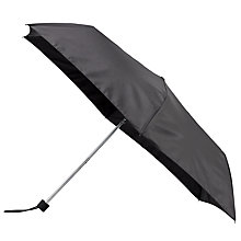 Buy John Lewis Plain Superslim Umbrella, Black Online at johnlewis.com