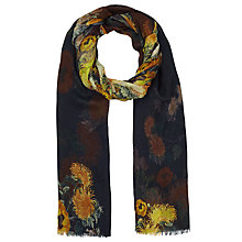 Buy Faye Et Fille Poppies Print Scarf, Black/Yellow Online at johnlewis.com