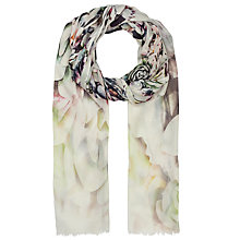 Buy Faye Et Fille Succulent Flowers Print Scarf, Multi Online at johnlewis.com