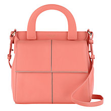 Buy Radley Sloane Square Small Leather Multiway Bag, Orange Online at johnlewis.com