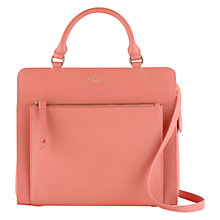Buy Radley Clerkenwell Medium Multiway Leather Bag, Orange Online at johnlewis.com