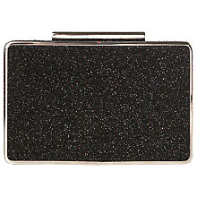 Buy L.K. Bennett Nina Box Clutch Bag, Black Suede Online at johnlewis.com