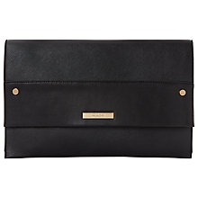 Buy Dune Elvina Black Flapover Clutch Bag Online at johnlewis.com
