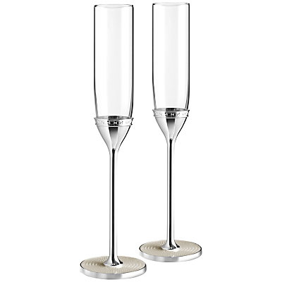 Vera Wang for Wedgwood With Love Flutes, Pearl, Set of 2