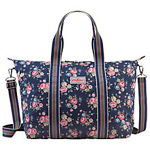 Buy Cath Kidston Latimer Rose Foldaway Overnight Bag, Navy Online at johnlewis.com